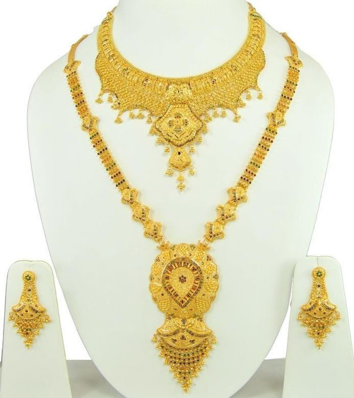 Indian Gold Necklace Set For Wedding