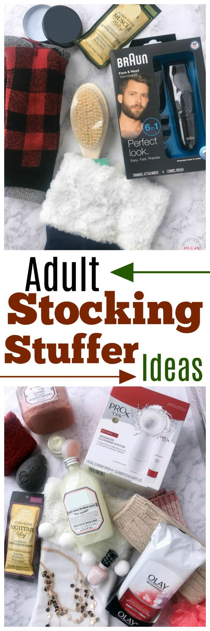 Stocking stuffers for men & stocking stuffers for women! Great stocking stuffer ideas. #Ad #StockingStufferUpgrade