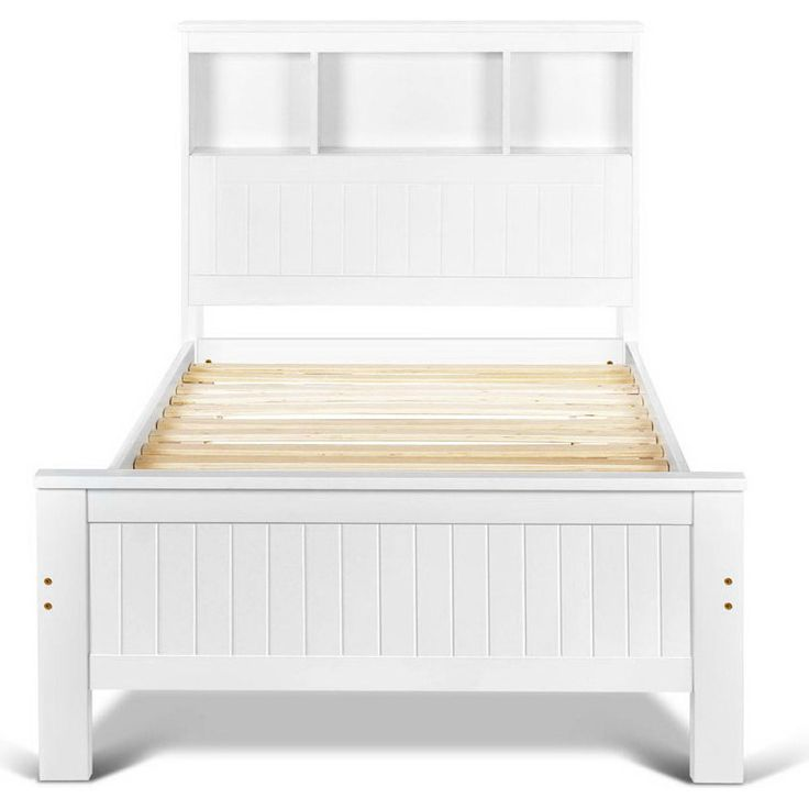 King Single Wooden Bed Frame w/ Storage Shelf White shopping, Buy King Single Bed Frame online at MyDeal for best deals, coupons, bargains, sales