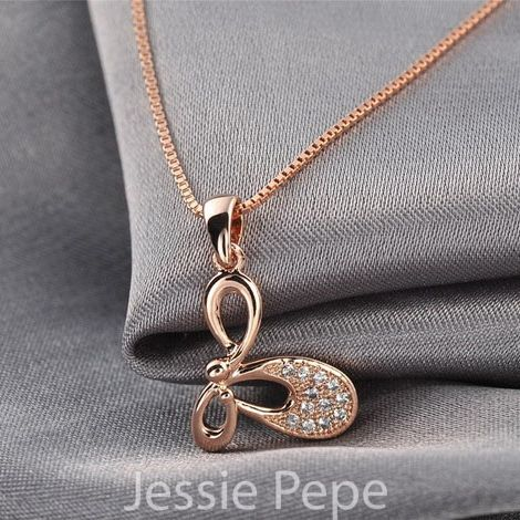 Jessie Pepe Italina Butterfly Necklace Colar With Austrian Crystal Stellux Zirconia Party Jewelry Welcome Wholesale #JP76860