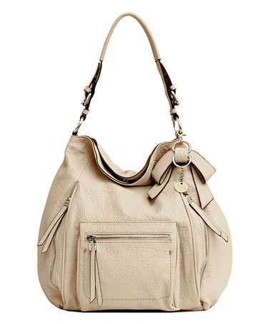 This Cream Alicia Hobo by Jessica Simpson Collection is perfect! #zulilyfinds