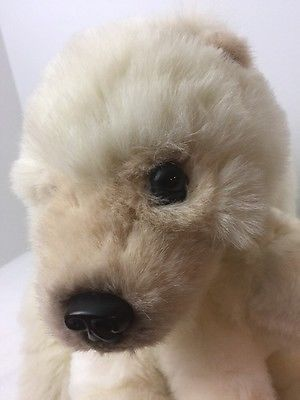 1999 Discovery Channel Plush Toy Mama & Babies Realistic Polar Bear Mama & Baby