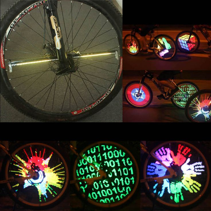 Fietsaccessoires Bisiklet Aksesuar 128 LED fietslicht LED Light Wheel Kleurrijke Veranderende Patroon Licht Night Voor MTB