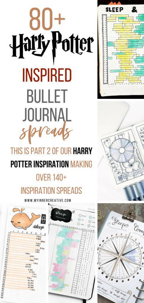 Part 2: 80+ Magical Harry Potter Bullet Journal layout ideas ...