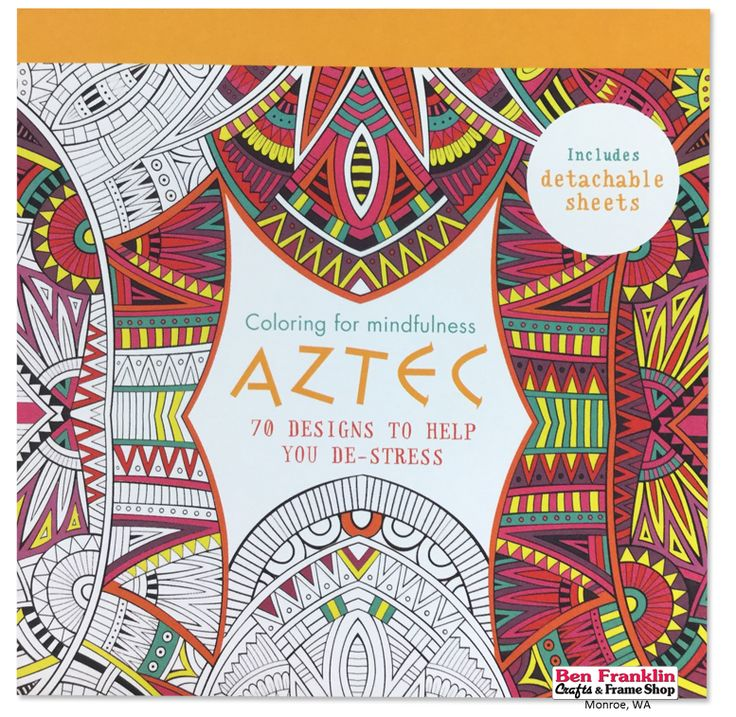 AZTEC Coloring Book For Adults 70 Designs To Help You De Stress Includes