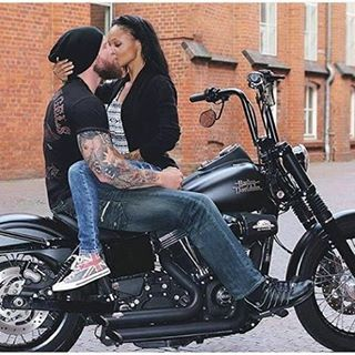 Sexy interracial couple photography on a motorcycle #love #wmbw #bwwm #swirl #favorite ❤