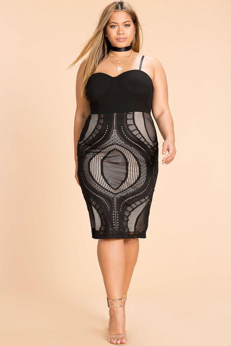 Optical Lace Bustier DressOptical Lace Bustier Dress