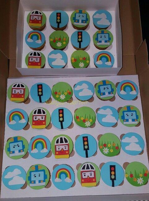 Robocar poli cupcakes
