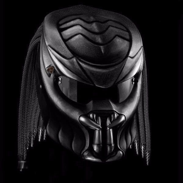 PREDATOR HELMETS STREET FIGHTER MOTORCYCLE - CUSTOM HAND MADE - DOT APPROVED #Unbranded