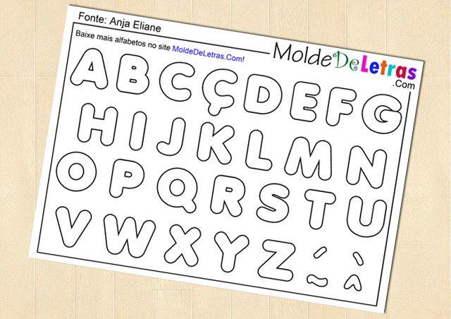 Molde de Letras e Números Anja Eliane - Molde de Letras