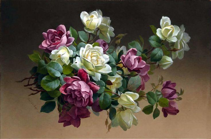 Цветочный рай художника Paul de Longpre (1855–1911). Обсуждение на LiveInternet - Российский Сервис Онлайн-Дневников