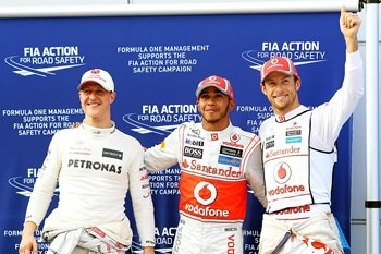 Another love, F1. Here's a picture of Jensen Button who we BOTH quite like for different reasons.
