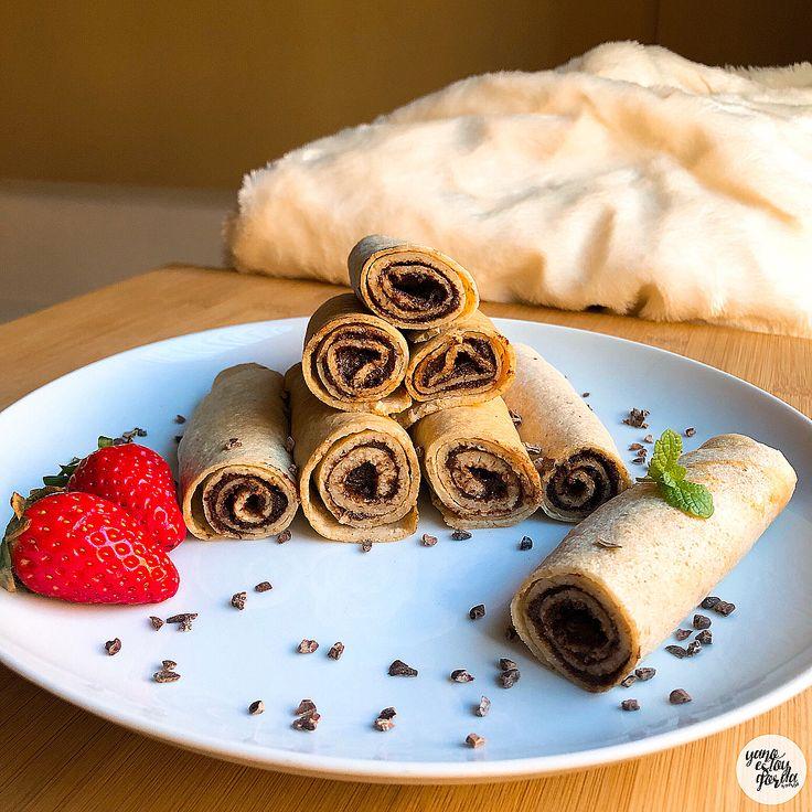 Crepes de avena integral con nutella saludable casera (rawtella) - YANOESTOYGORDA by netastyle
