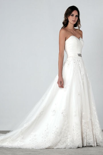 Simple and Clean w/ lace Henry Roth Spring 2012 Bridal