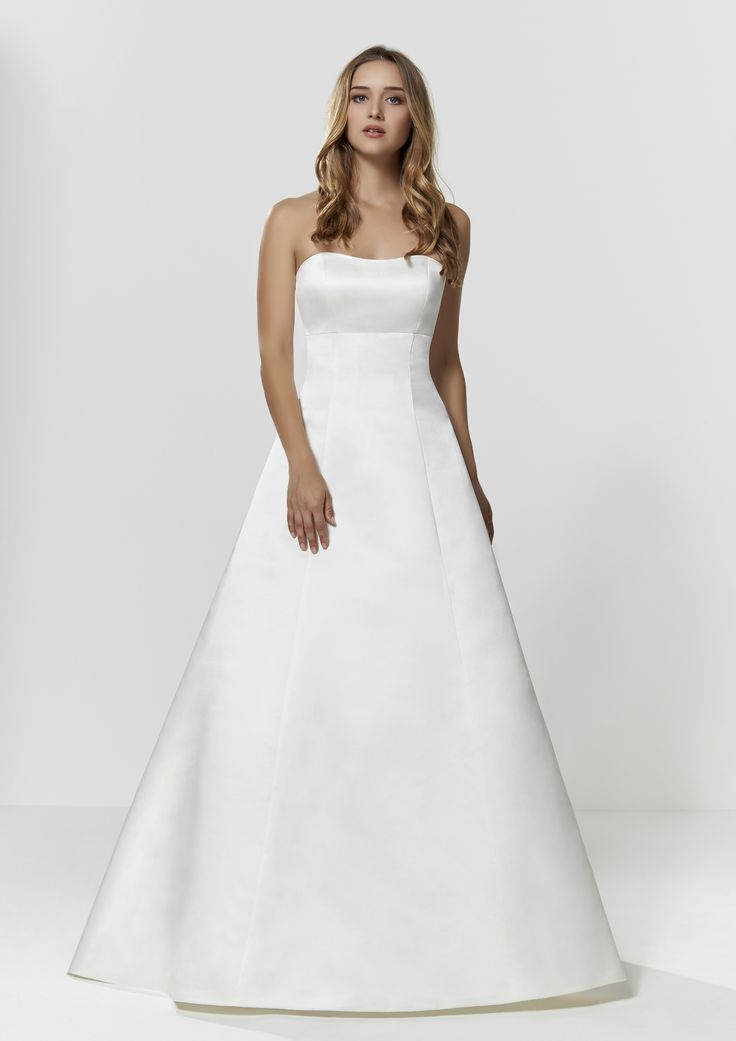 Classic Wedding Dress - Check out our Custom Pin Options #CustomWeddingDress