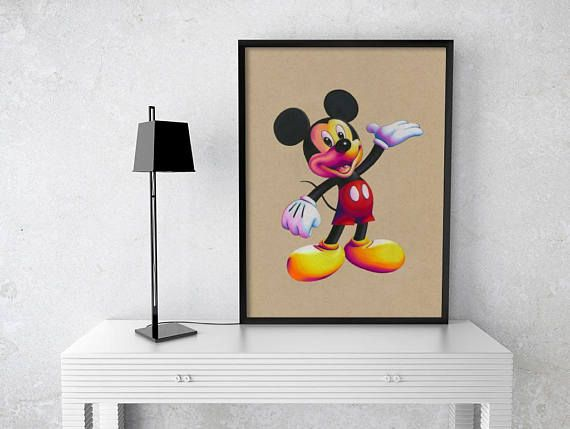 Mickey Mouse Signed Print