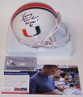 Vinny Testaverde - Riddell - Autographed Mini Helmet - Miami Hurricanes - PSA/DNA