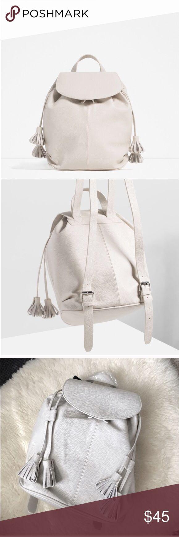 NWT ZARA backpack with tassel! ❤️🙌💃 ❤️Cute Nude backpack with tassel! Zara Bags Backpacks