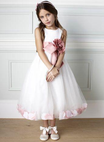 Fleur Petal Dusky Pink Bridesmaid Dress