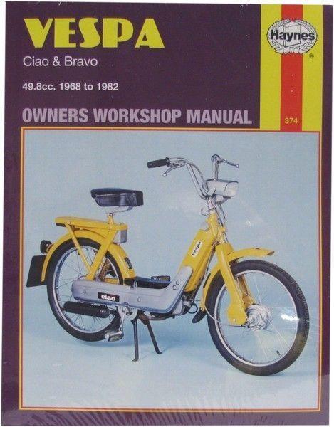 NEW Haynes Manual Vespa Ciao,Bravo 1968- 1982