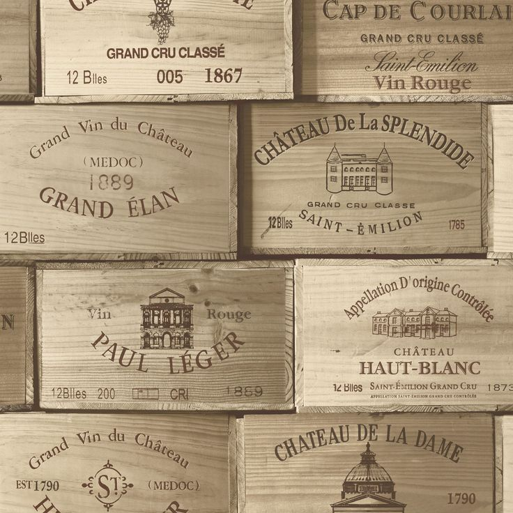 Gold Wooden Wine Boxes Wallpaper | Departments | DIY at B&Q - £14.00