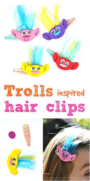 felt hair clips how to make