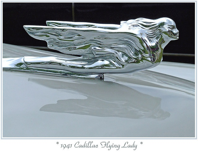 1941 cadillac flying lady hood ornament wheels 1940 39 s. Black Bedroom Furniture Sets. Home Design Ideas
