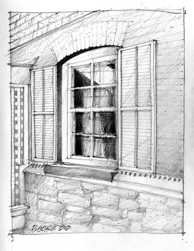 125 best images about pencil colored pencil drawings on for Window design sketch