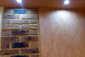 Separate lighting in room on Vandersanden bricks and on creative wall
