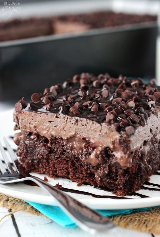 Chocolate-Poke-Cake-Recipe plus 24 more of the most pinned cake recipes