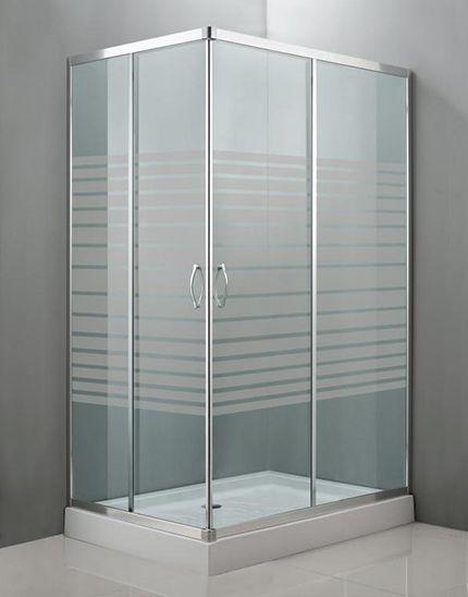 Mampara rectangular mod mittos para plato de ducha de for Mamparas decoradas