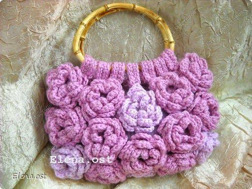 Hobby lavori femminili - ricamo - uncinetto - maglia: borsa uncinetto