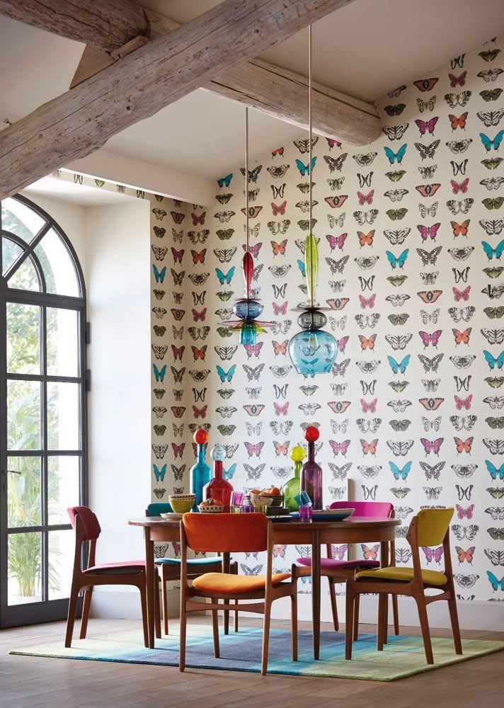 Inspirerande matrum med tapet från kollektionen Amazilia 111079. Klicka för att se fler fina tapeter för ditt hem!