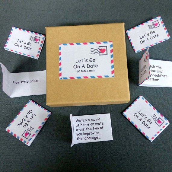 Date Night Box 60 Date Night Ideas Romantic Gift For