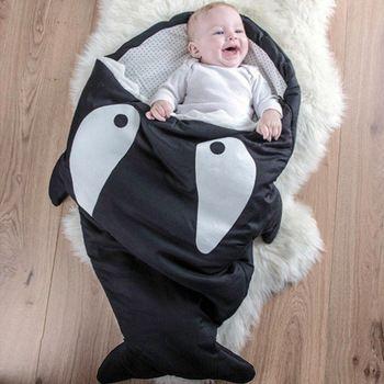 2015 ins nieuwe herfst winter dikke pasgeboren baby deken paded haai envelop slaapzakken sleepsacks in wandelwagen fleabag 0-12m