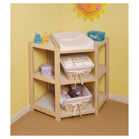 Natural Diaper Corner Baby Changing Table : Target