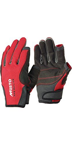 From 17.99 Musto Essential Sailing Long Finger Gloves In Red As0803