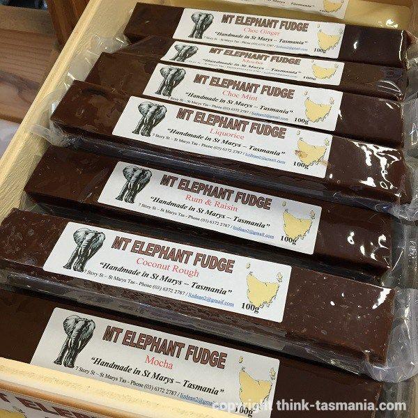 Mt Elephant Fudge from East Coast Village Providore, St Helens ~ article and photo for think-tasmania.com ~ #Tasmania #chocolate #StHelens #StMarys #EastCoastTas