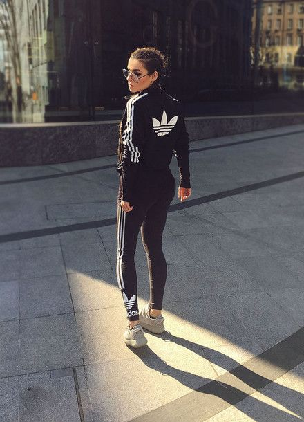 paulitta . japanese fly blogger sunglasses leggings tracksuit adidas adidas sweater