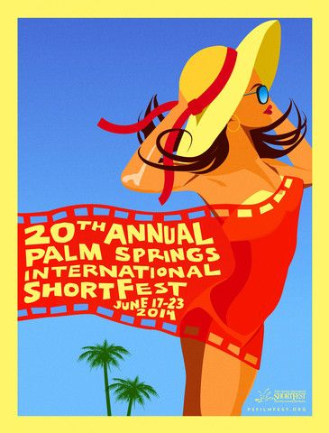 Destination PSP - Palm Springs International ShortFest Poster 2014
