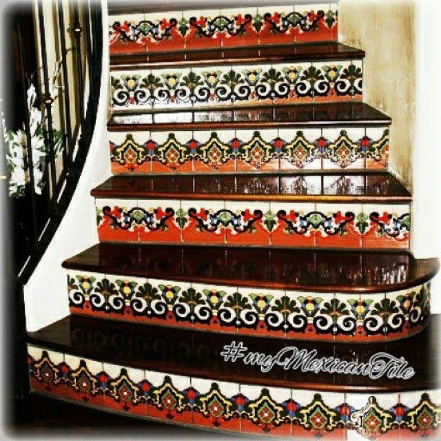 mexican stair riser tiles
