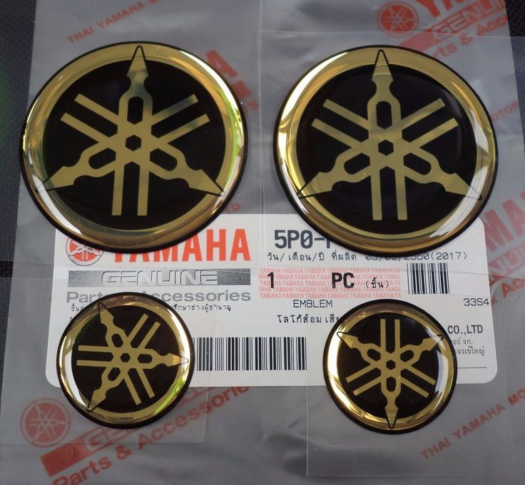 GENUINE YAMAHA BIKE Round Domed Stickers Decal GOLD & BLACK Forks / Tank   Vehicle Parts & Accessories, Motorcycle Accessories, Stickers, Emblems & Flags   eBay!