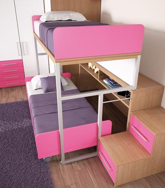 BADROOM - centri camerette specializzati in camere e camerette per ragazzi - Cameretta con letto scorrevole