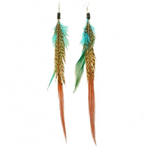 Sacha // Feather earrings € 5,95