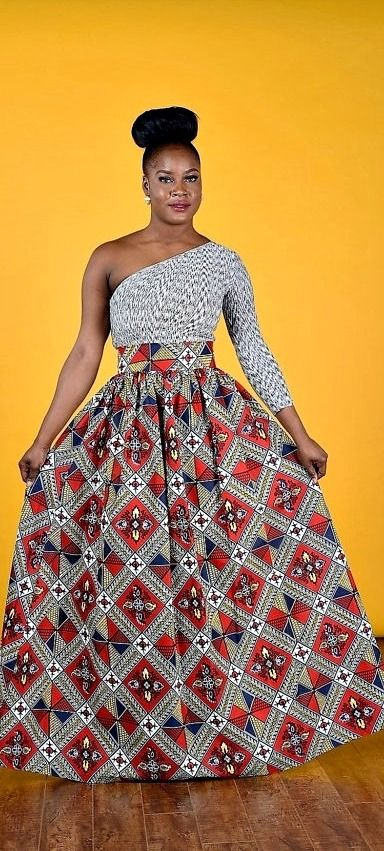 ALE Maro African print Maxi Skirt African Clothing. African Wax print Gathered waistline maxi skirt This skirt is so unique and it's more beautiful in person. @dankwa_ghna
