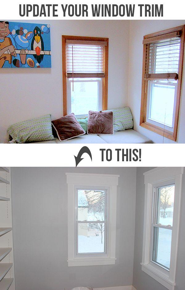 Update your standard window trim with this Craftsman Style Window Trim tutorial.