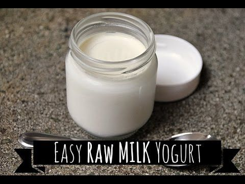 how to make thick yogurt from raw milk
