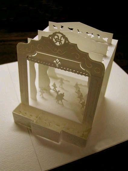 3D Paper Cutting Pearlescent Paper Ballet Recital Theatre Performance Kirigami. $5.00, via Etsy.