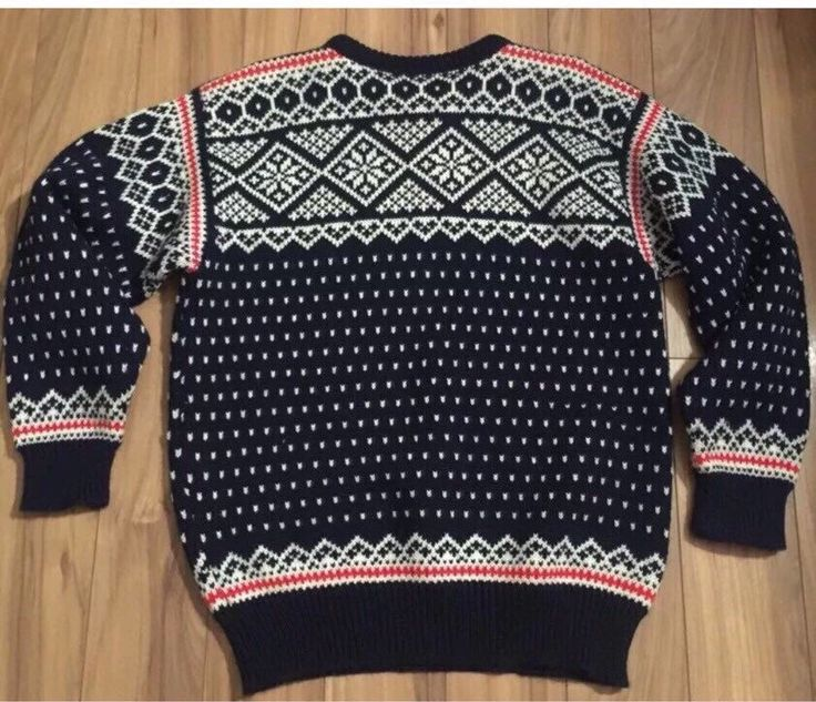 A personal favorite from my Etsy shop https://www.etsy.com/ca/listing/267346396/dale-of-norway-sweater-nordic-wool
