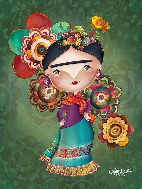 Ilustração feita para o projeto homenagens, essa é uma homenagem a artista Frida Kahlo.